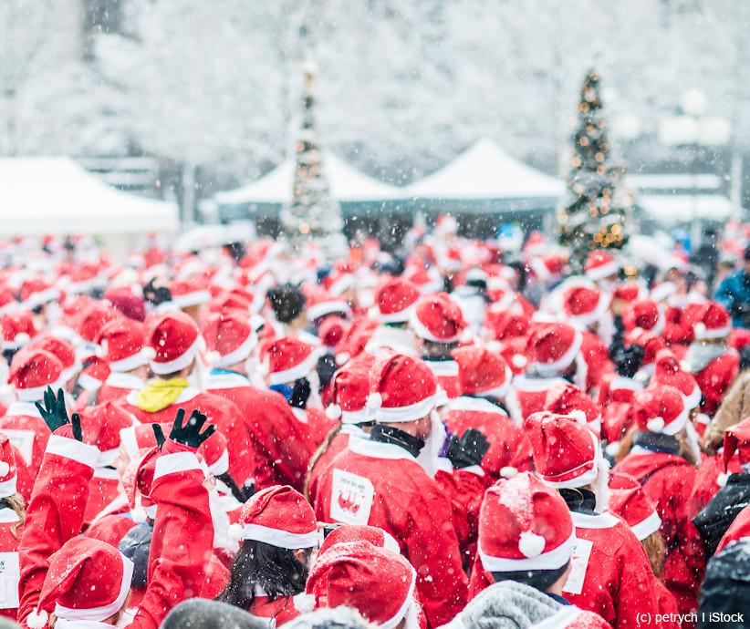 Weihnachtsmann Versammlung